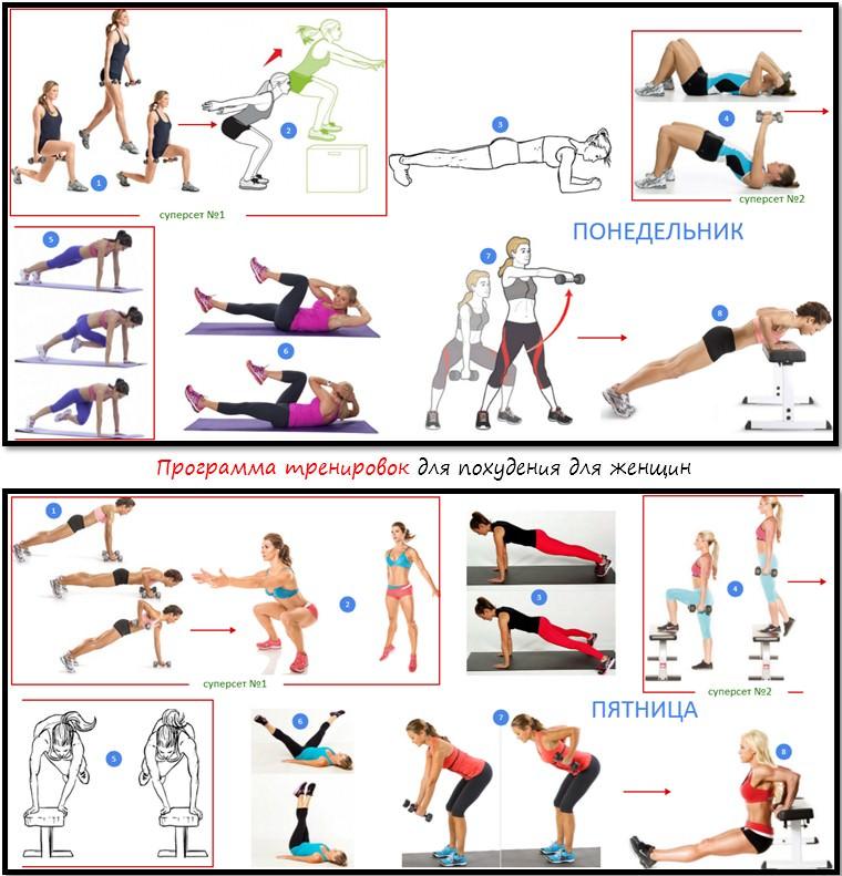 Программа тренировок для начинающих девушек