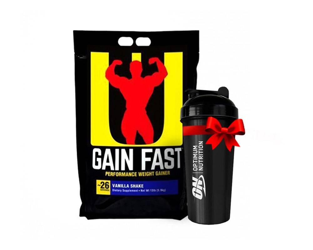 Гейнер gain fast 3100 от universal nutrition- обзор белково-углеводной смеси