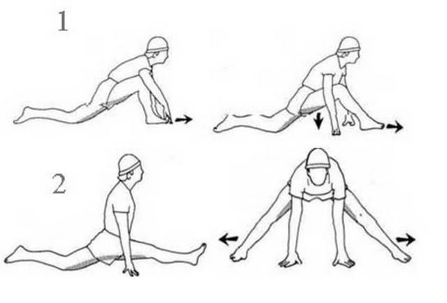 Как правильно сесть на продольный и поперечный шпагат в домашних условиях мужчине и женщине