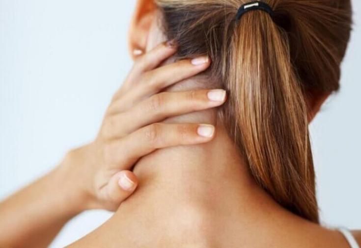 Отложение солей на шее