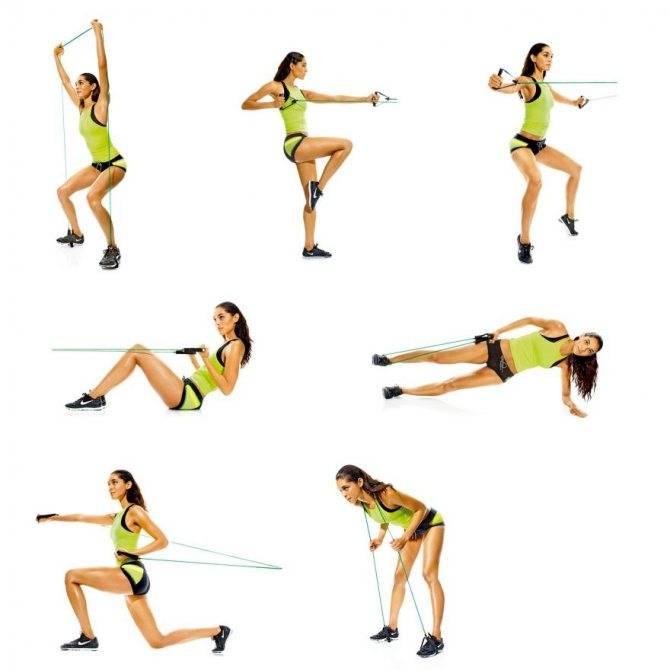 Упражнения с эспандером для женщин в домашних условиях быстро