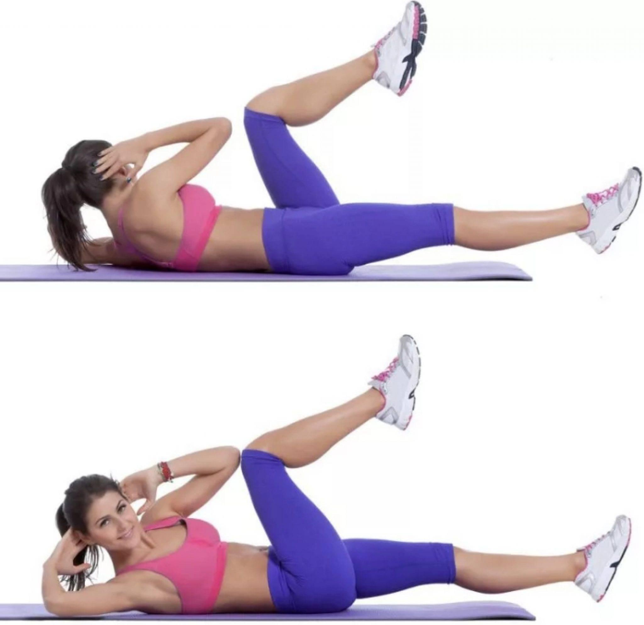 Упражнения для похудения живота, ног, бедер, боков, рук, ягодиц
