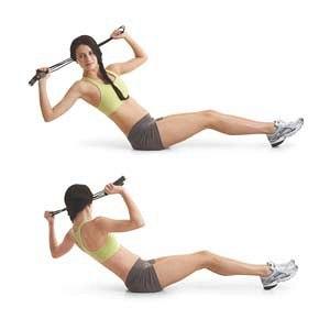 Упражнения с бодибаром для груди рук спины ног пресса