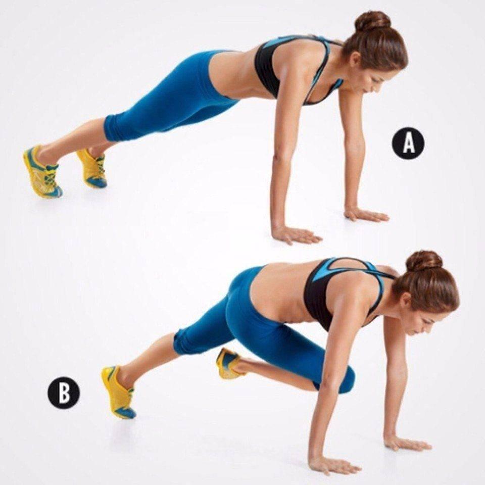 6 вариантов упражнения «скалолаз» для идеального пресса - техника выполнения