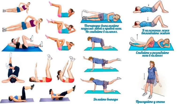 Упражнения для похудения и уменьшения живота после родов