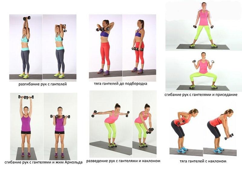 Упражнения с гантелями. топ лучших.