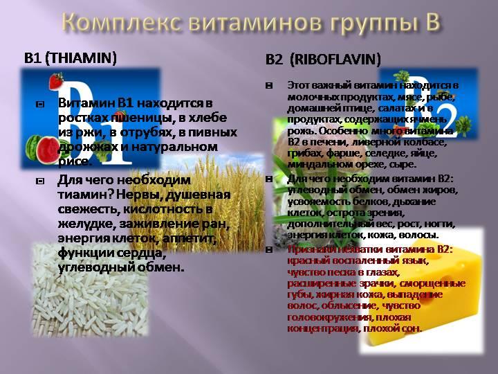Полезные свойства витаминов группы b и их роль в организме человека