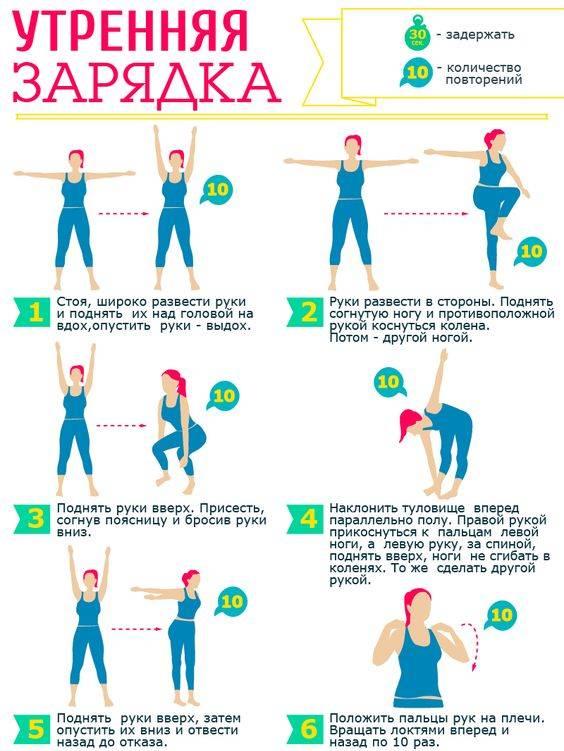 Зарядка перед сном для похудения