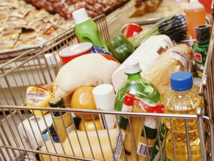 Продуктовая корзина со списком продуктов на месяц 1 человеку в россии