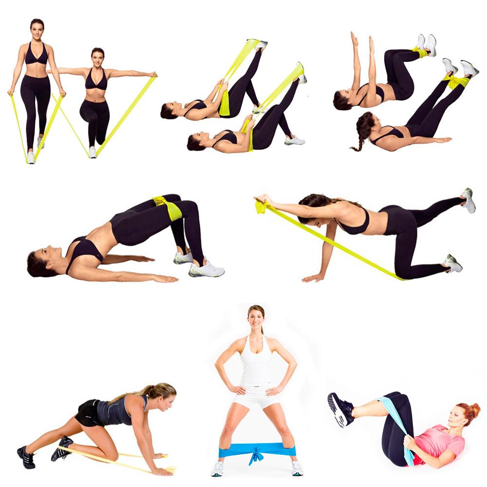 7 эффективные упражнений с резинкой для пресса и талии