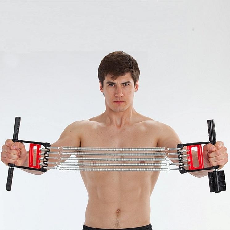 Упражнения с эспандером для мужчин - комплекс тренировок для различных групп мышц. обзор лучших тренажеров, отзывы, фото, видео, рекомендации от профи смотрите здесь!