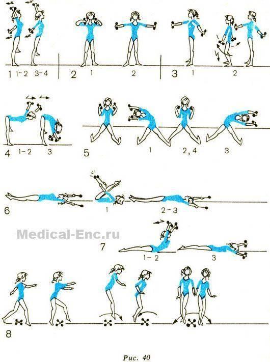 Самые эффективные упражнения для женской спины с применением гантелей