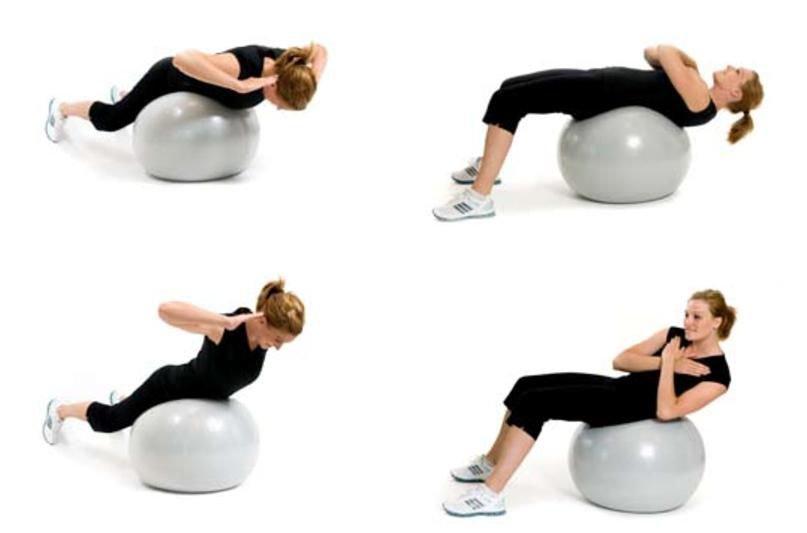 Упражнения на фитболе для грудничков – 10 важных упражнений