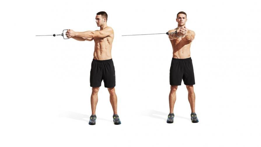 Сведение рук в кроссовере: разновидности упражнения стоя и лежа, техника и особенности
