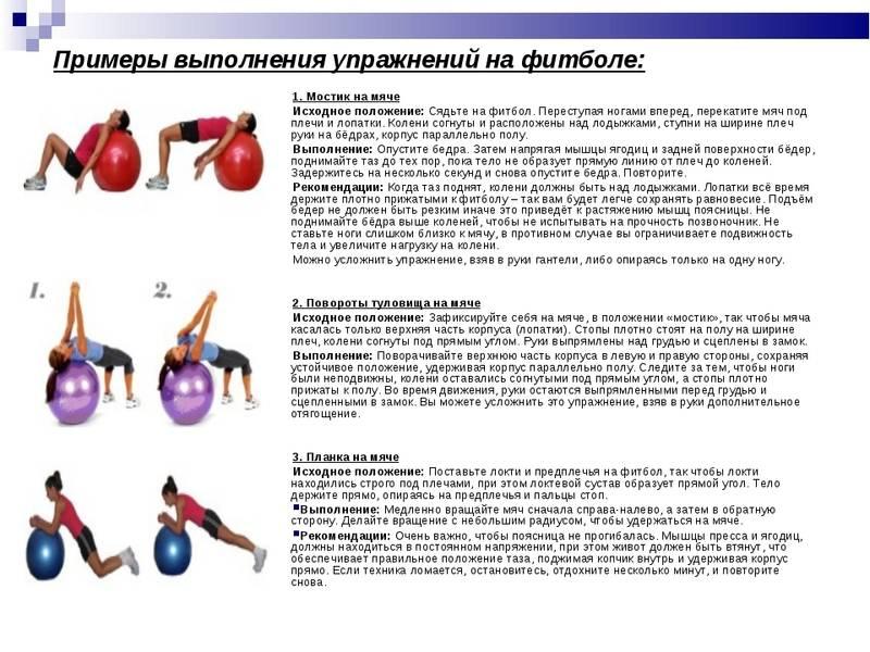 Упражнений на фитболе для ягодиц, ног и бедер