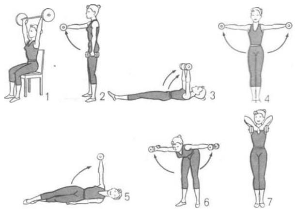 Упражнения на руки для похудения, которые можно делать дома