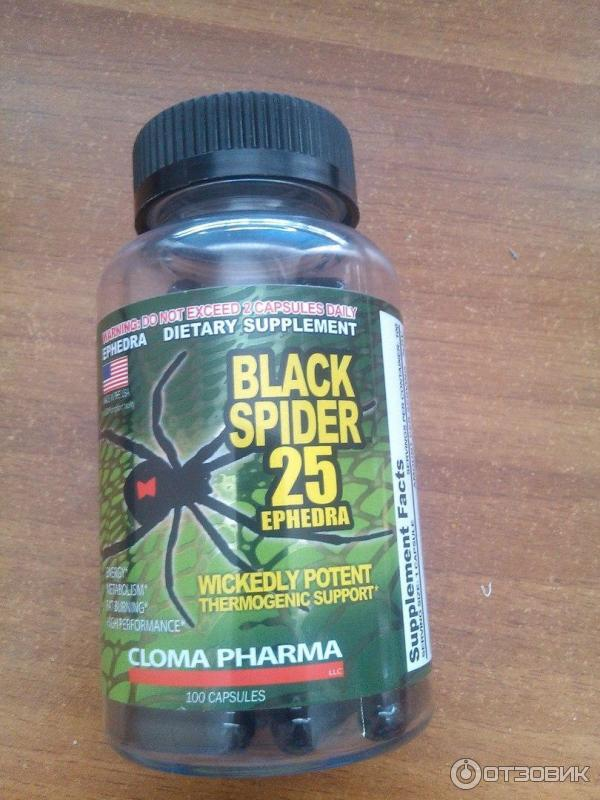 Жиросжигатель black spider- инструкция по применению, отзывы