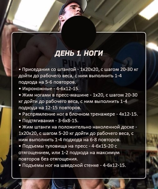 Программа тренировок 1 раз в неделю