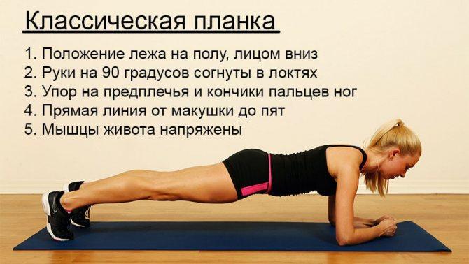 Упражнения планка для похудения на каждый день: сколько и как правильно делать начинающим, виды планок