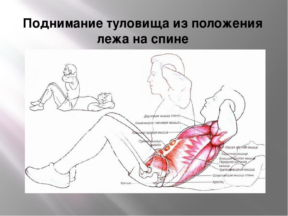 Поднимание туловища из положения лежа на спине