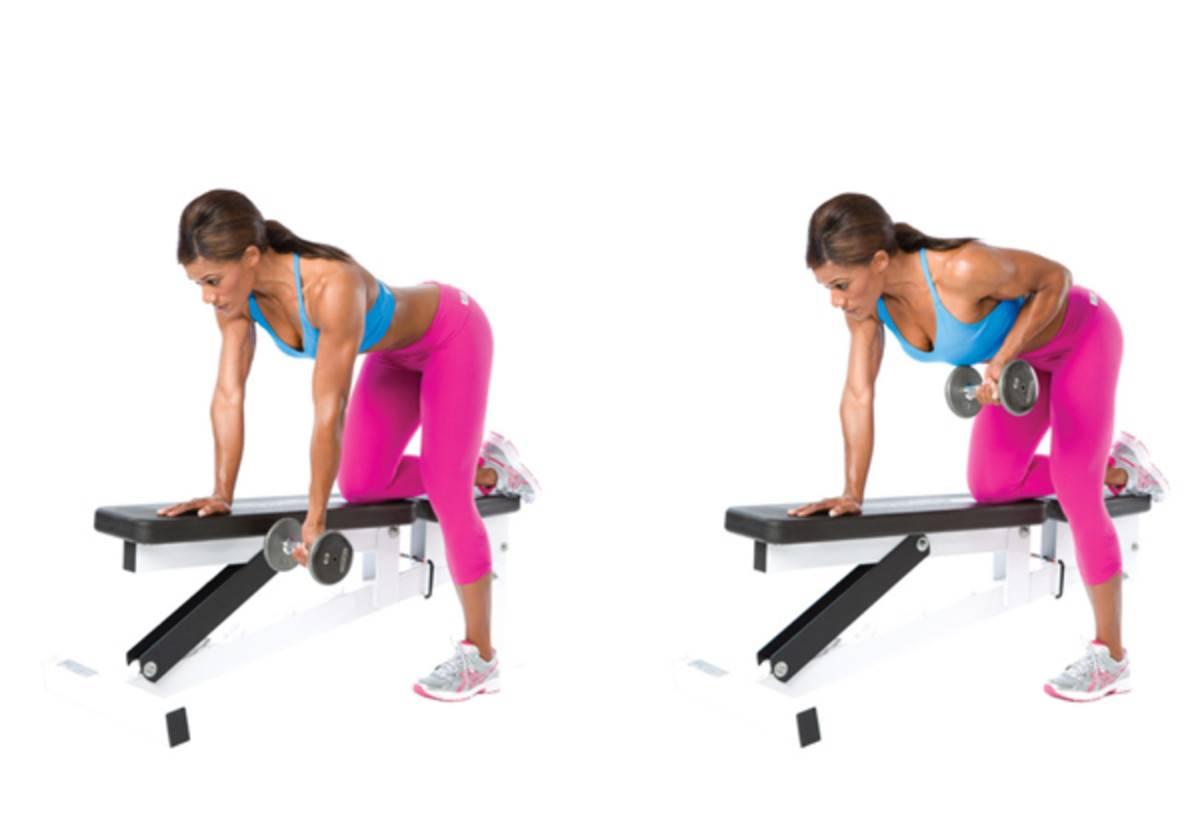 Тяга гири в наклоне к поясу : техника выполнения одной и двумя руками