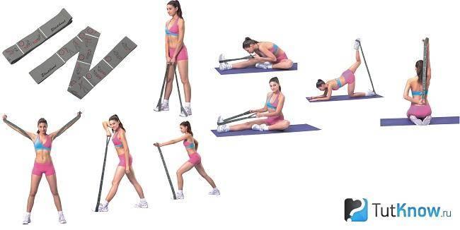 Упражнения с лентой - тренируем все группы мышц с использованием эластичной ленты